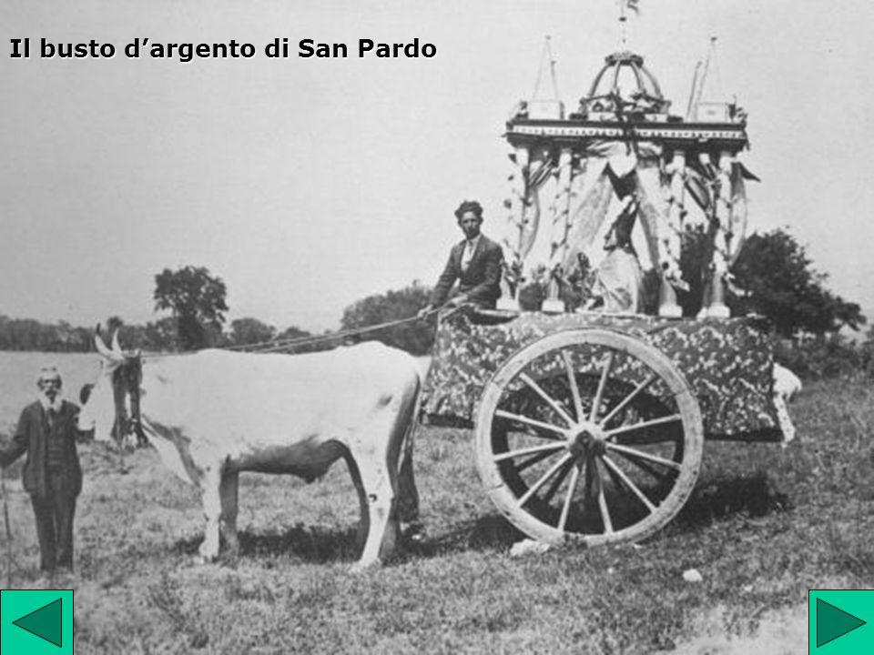 Il busto dargento di San Pardo