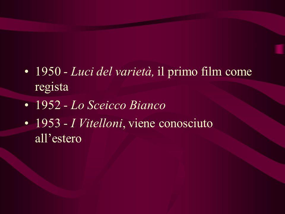 1945 - Roma Città Aperta, la sceneggiatura Lavora come sceneggiatore ed aiuto regista, per Rossellini, Pietro Germi e Alberto Lattuada