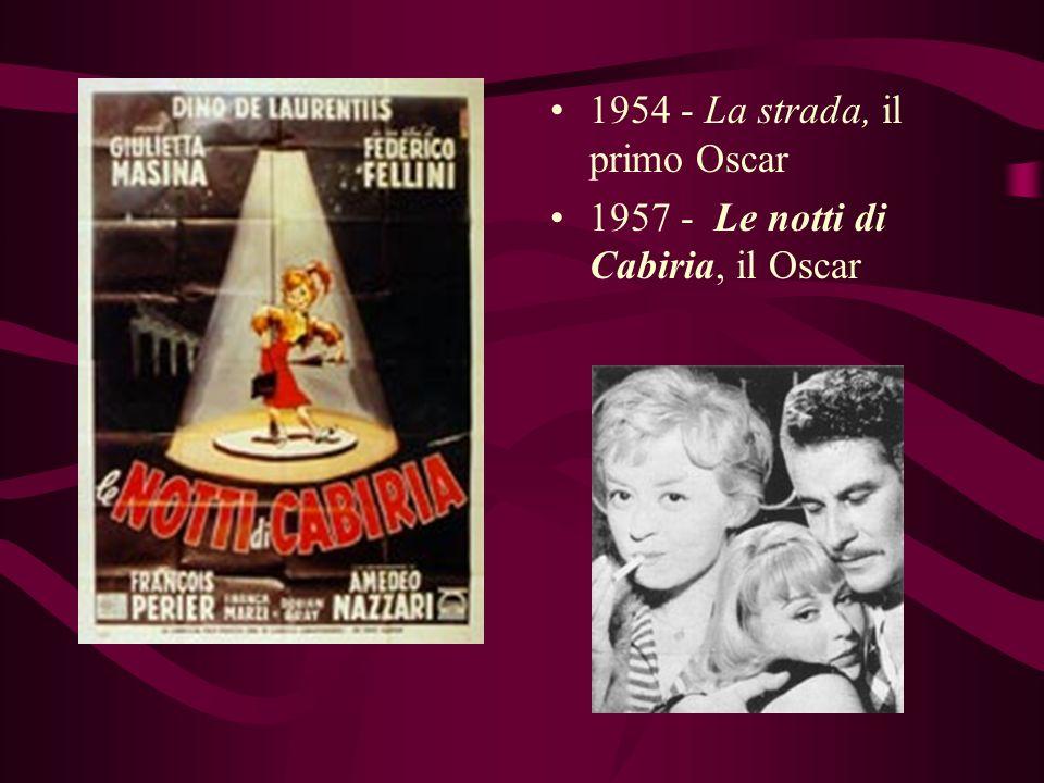 1950 - Luci del varietà, il primo film come regista 1952 - Lo Sceicco Bianco 1953 - I Vitelloni, viene conosciuto allestero