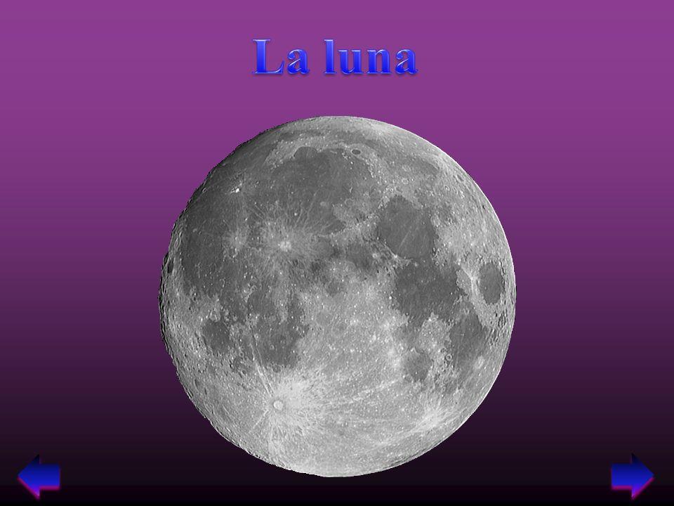 1.La luna è lunico satellite naturale della terra.