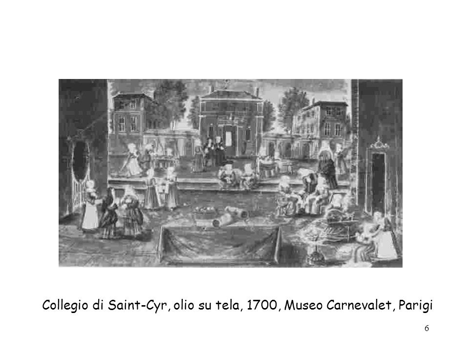 7 Incisione sulleducazione, XVII sec., Bibliothèque des Arts Décoratifs, Parigi.