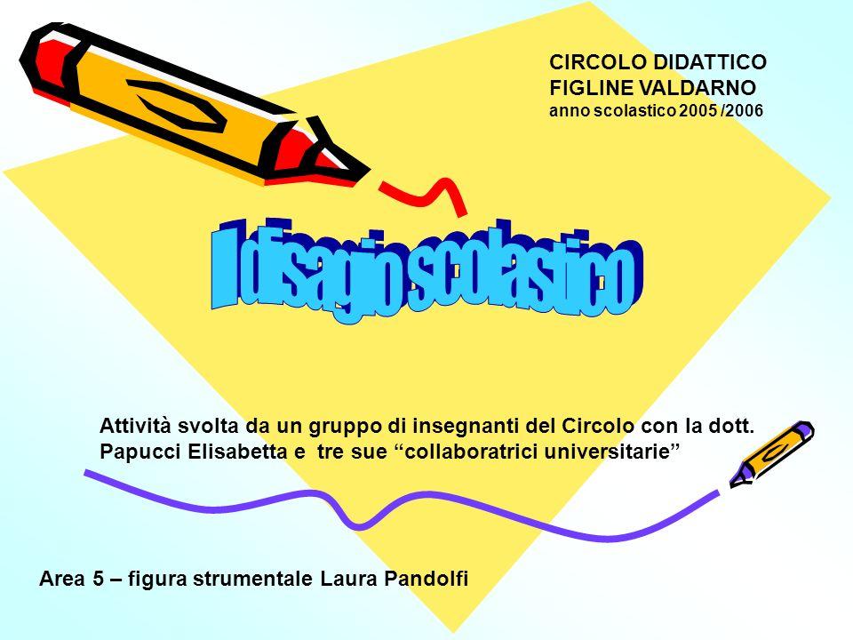 CIRCOLO DIDATTICO FIGLINE VALDARNO anno scolastico 2005 /2006 Attività svolta da un gruppo di insegnanti del Circolo con la dott. Papucci Elisabetta e