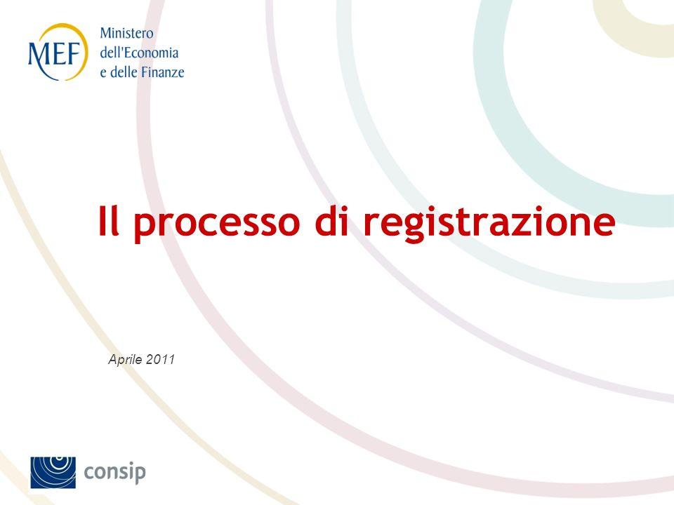 Il processo di registrazione Aprile 2011