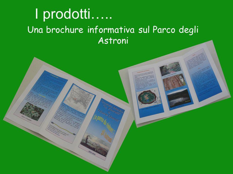 I prodotti….. Una brochure informativa sul Parco degli Astroni