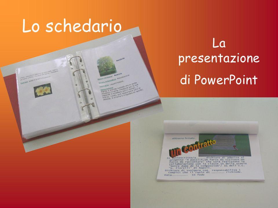 Lo schedario La presentazione di PowerPoint
