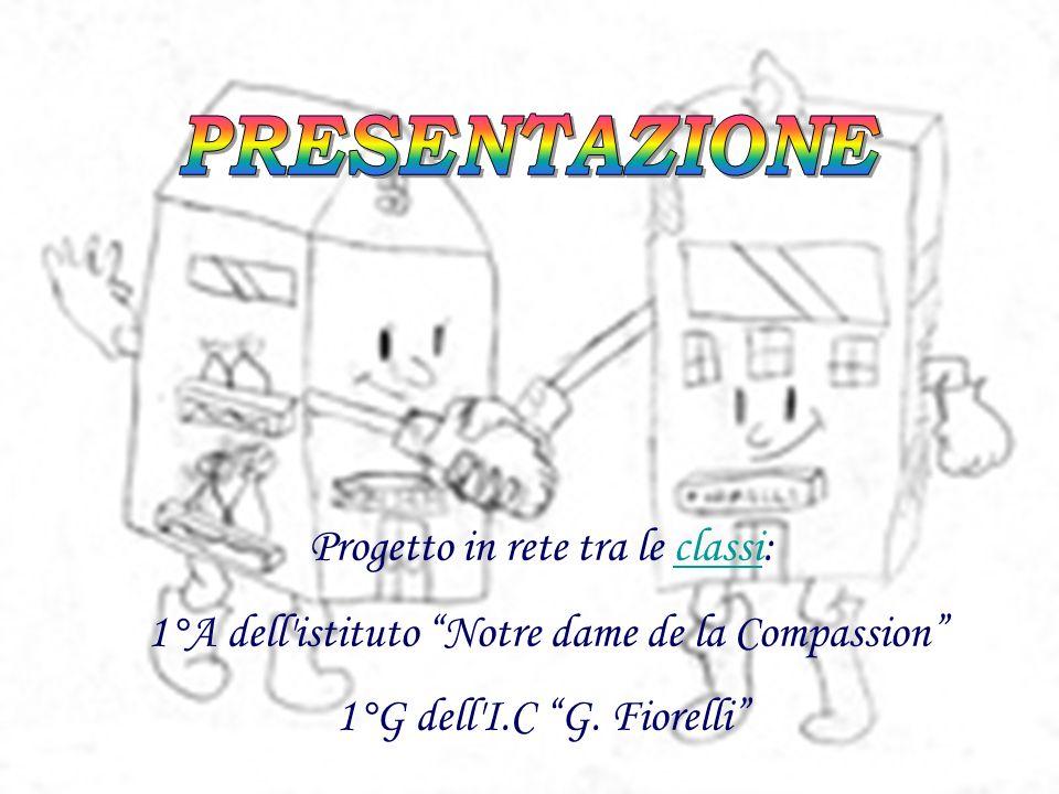 Progetto in rete tra le classi: 1°A dell istituto Notre dame de la Compassion 1°G dell I.C G.