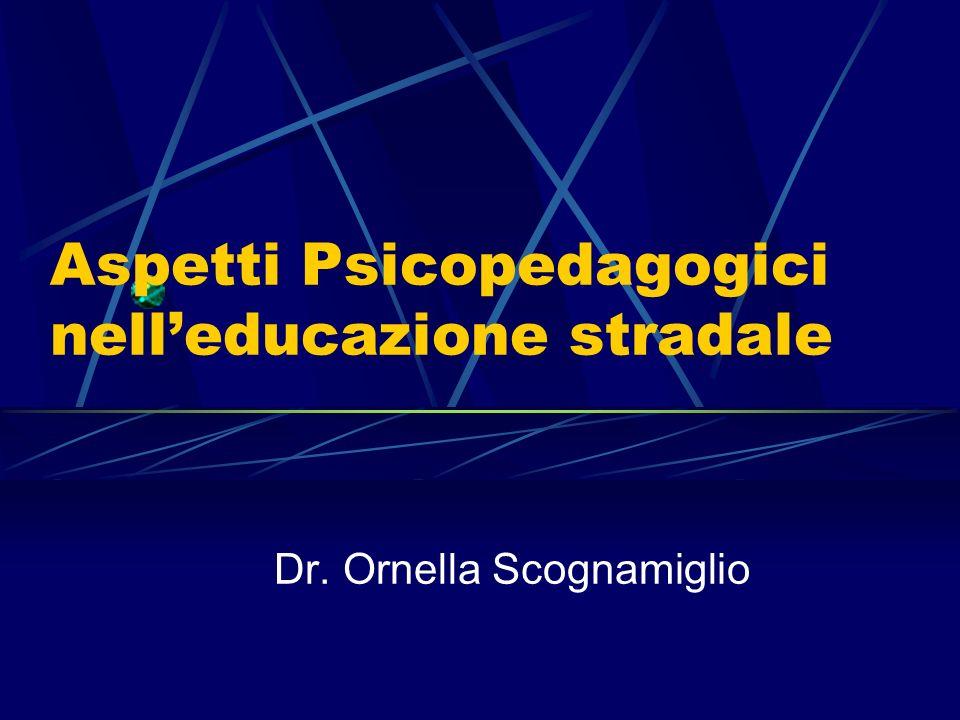 Aspetti Psicopedagogici nelleducazione stradale Dr. Ornella Scognamiglio