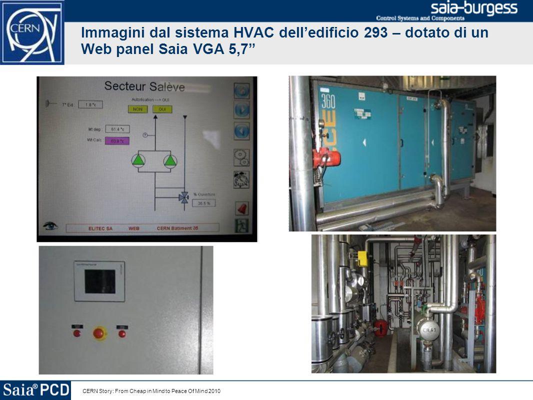 CERN Story: From Cheap in Mind to Peace Of Mind 2010 Immagini dei quadri elettrici del CERN dopo i primi 9 mesi di uso di Saia PCD Saia PCD 3 Sistemi DDC per HVACSE