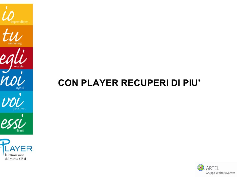 CON PLAYER RECUPERI DI PIU