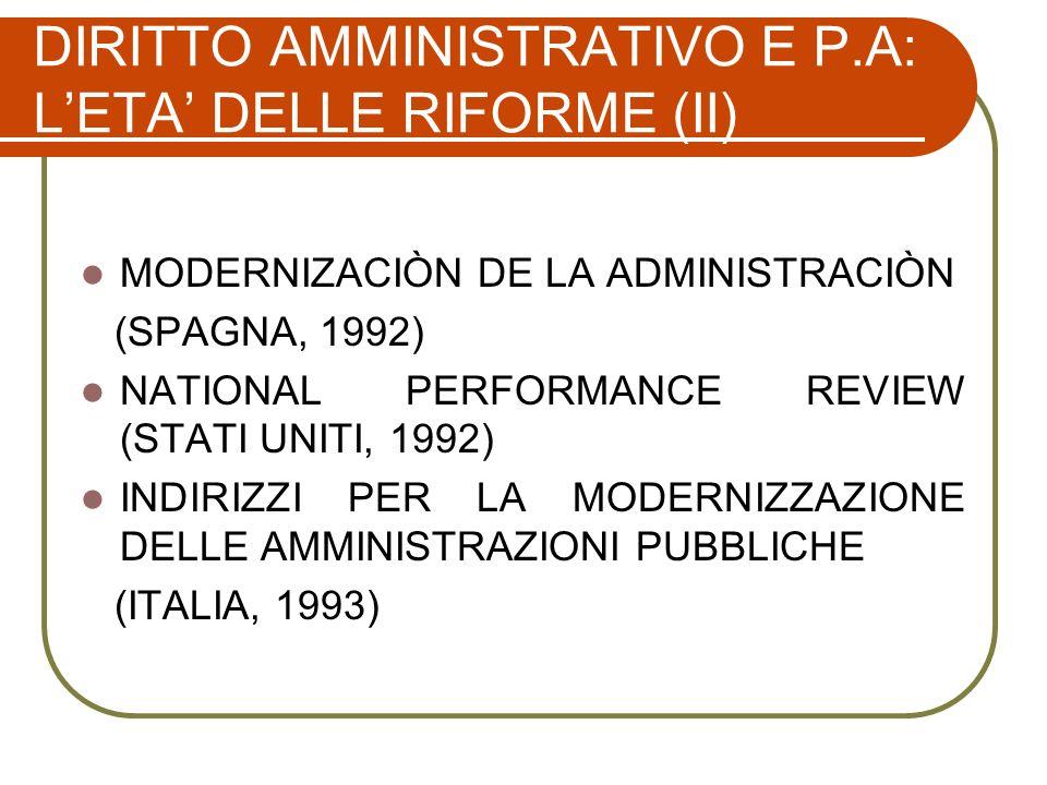 GLI ELEMENTI DEL NEW PUBLIC MANAGEMENT Agencification Result-oriented Managing e Budgeting Value for money Public-private Partnership Marketisation Consumer satisfaction