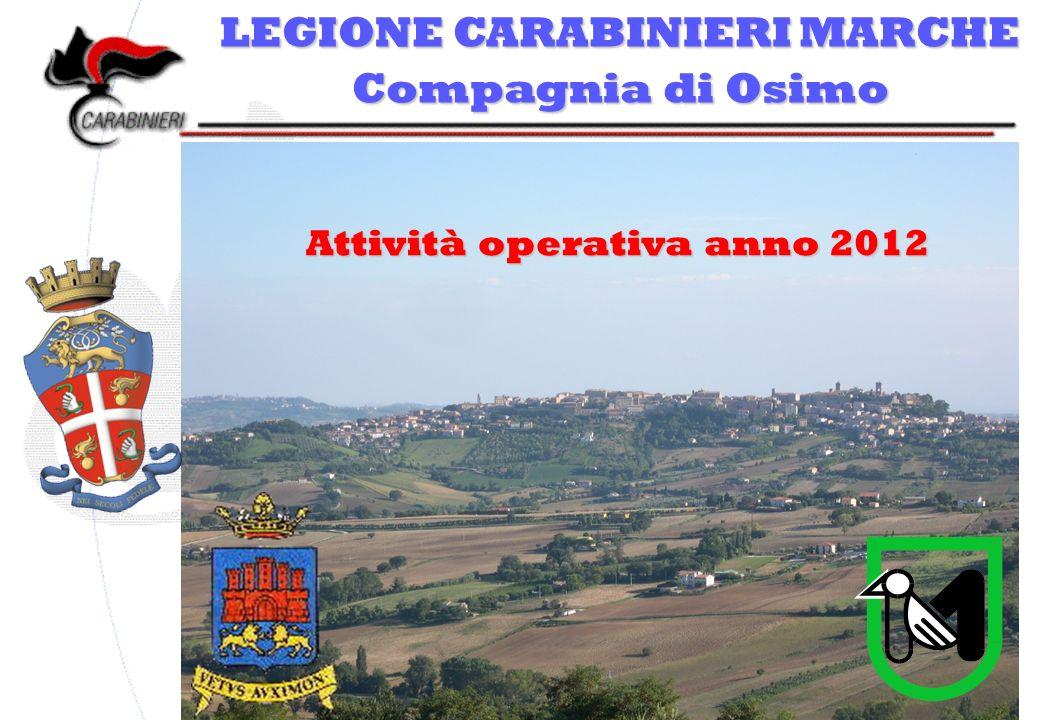 LEGIONE CARABINIERI MARCHE Compagnia di Osimo Attività operativa anno 2012