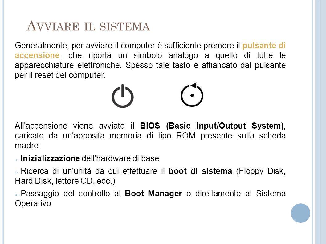 A VVIARE IL SISTEMA Il Boot Manager è un programma installato sul computer (spesso sull hard disk) che permette di scegliere quale sistema operativo avviare.