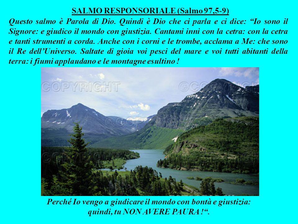 Questa lettura è Parola di Dio. Quindi è Dio che ci parla e - per bocca del profeta Malachìa - ci dice: NON AVERE PAURA! Perché arriverà il giorno in