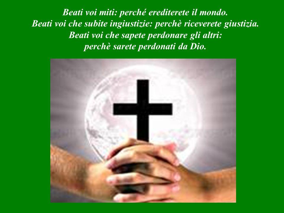 VANGELO (Matteo 5,1-12) Questo vangelo è Parola di Dio.