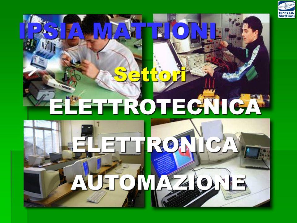 ELETTROTECNICAELETTRONICA AUTOMAZIONE AUTOMAZIONE Settori IPSIA MATTIONI