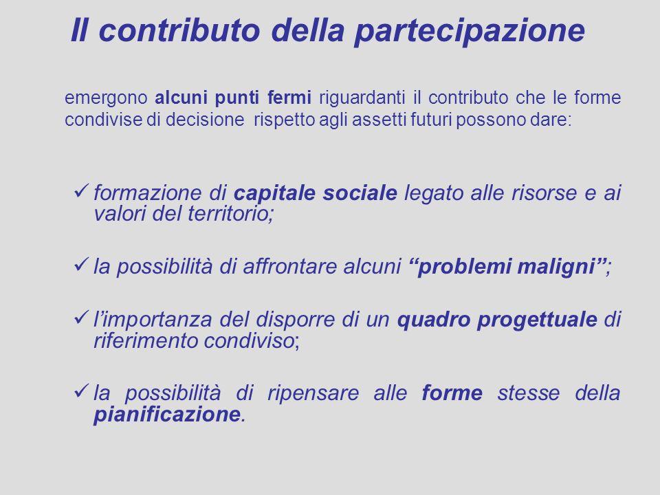 Il contributo della partecipazione emergono alcuni punti fermi riguardanti il contributo che le forme condivise di decisione rispetto agli assetti fut