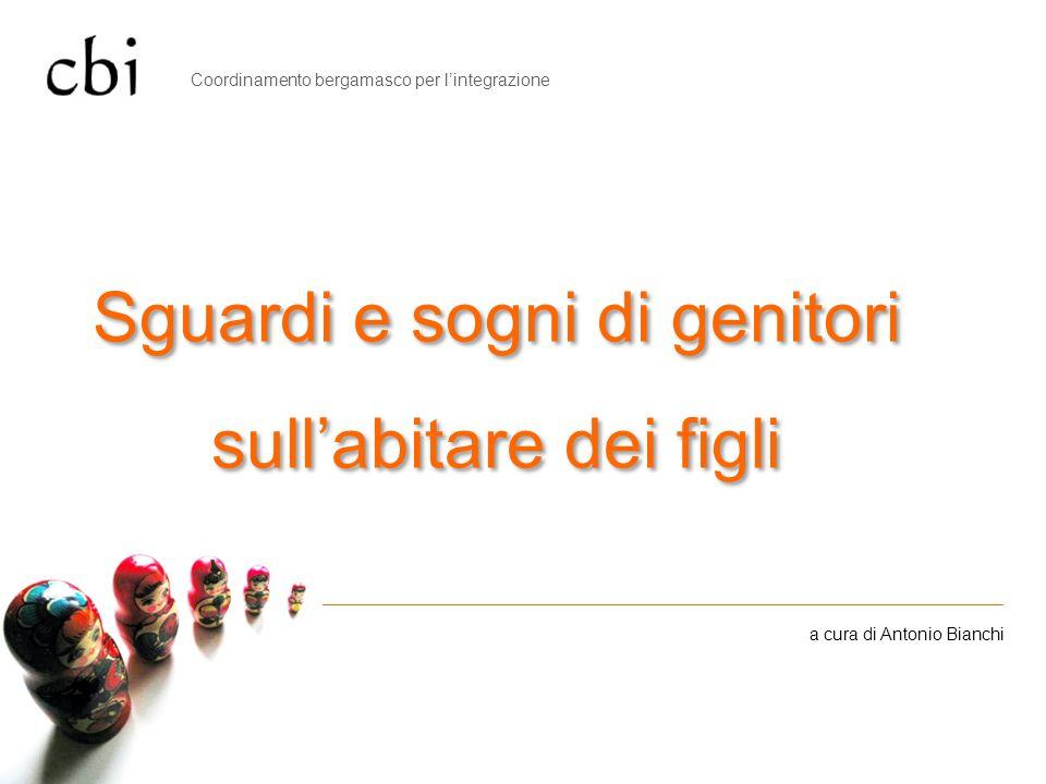 Sguardi e sogni di genitori sullabitare dei figli a cura di Antonio Bianchi Coordinamento bergamasco per lintegrazione