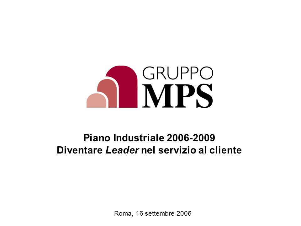3kLD0237_screenshow_english.ppt Roma, 16 settembre 2006 Piano Industriale 2006-2009 Diventare Leader nel servizio al cliente