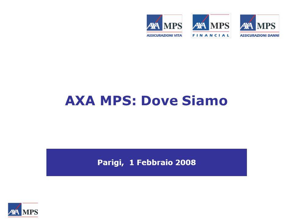 Parigi, 1 Febbraio 2008 AXA MPS: Dove Siamo