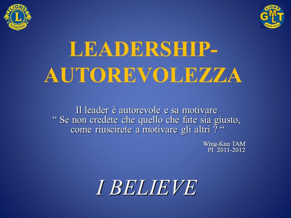 LEADERSHIP- AUTOREVOLEZZA Il leader è autorevole e sa motivare Se non credete che quello che fate sia giusto, Se non credete che quello che fate sia g