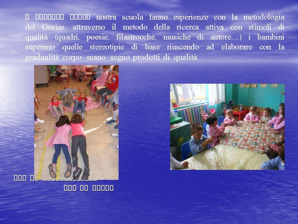 con la manipolazione con il corpo con la manipolazione con il corpo I bambini della nostra scuola fanno esperienze con la metodologia del Gusias : att