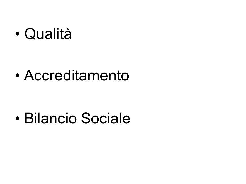Qualità Accreditamento Bilancio Sociale