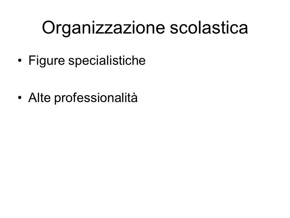 Organizzazione scolastica Figure specialistiche Alte professionalità