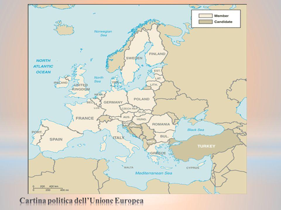 Lunione Europea si riconosce attraverso dei simboli: - Le 12 stelle in cerchio rappresentano gli ideali di unità, solidarietà e armonia tra i popoli d Europa.