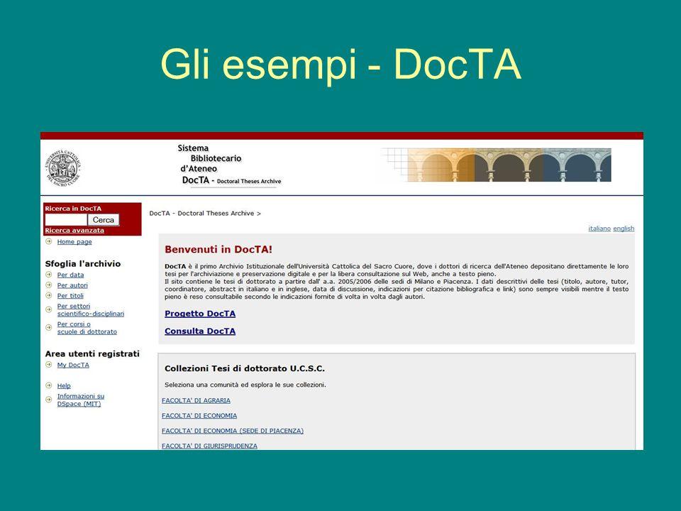 Gli esempi - DocTA