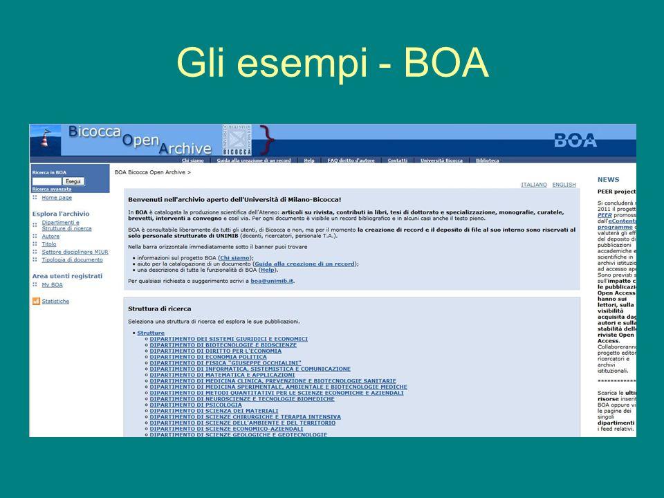 Gli esempi - BOA