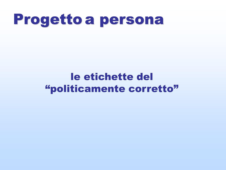 Progetto a persona le etichette del politicamente corretto