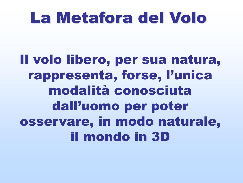 La Metafora del Volo Il volo libero, per sua natura, rappresenta, forse, lunica modalità conosciuta dalluomo per poter osservare, in modo naturale, il mondo in 3D