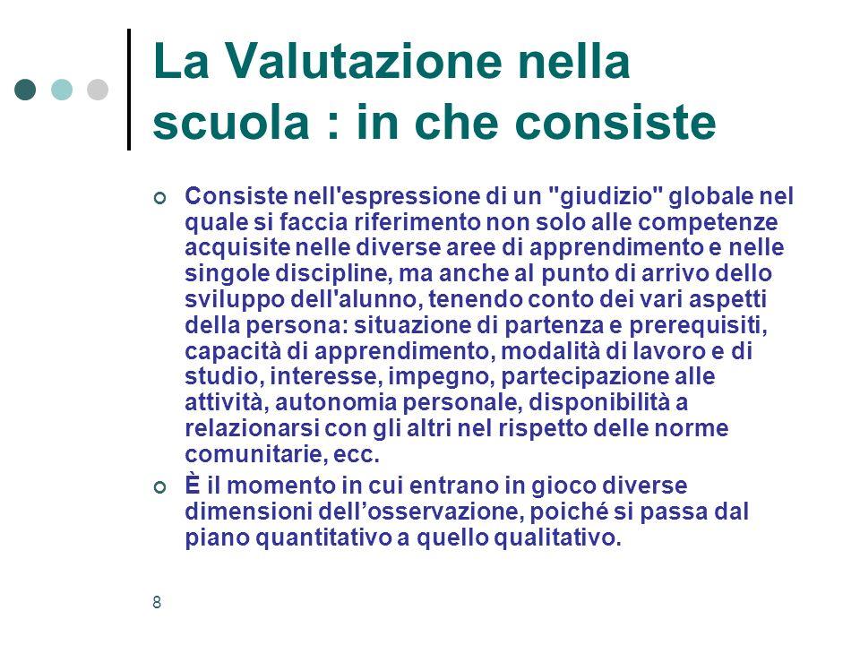 9 Separare il concetto di misurazione da quello di valutazione......