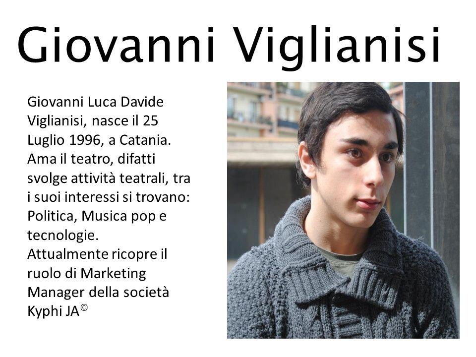 Giovanni Viglianisi Giovanni Luca Davide Viglianisi, nasce il 25 Luglio 1996, a Catania. Ama il teatro, difatti svolge attività teatrali, tra i suoi i