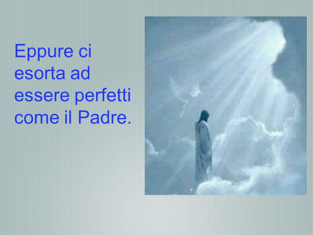 Eppure ci esorta ad essere perfetti come il Padre.