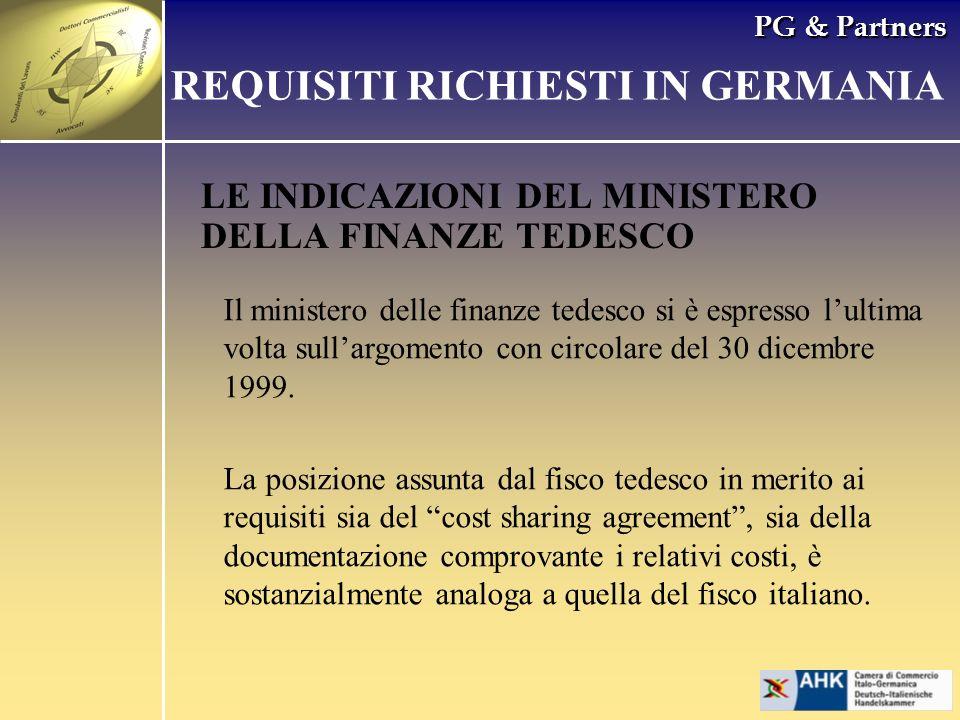 PG & Partners LE INDICAZIONI DEL MINISTERO DELLA FINANZE TEDESCO REQUISITI RICHIESTI IN GERMANIA Il ministero delle finanze tedesco si è espresso lult
