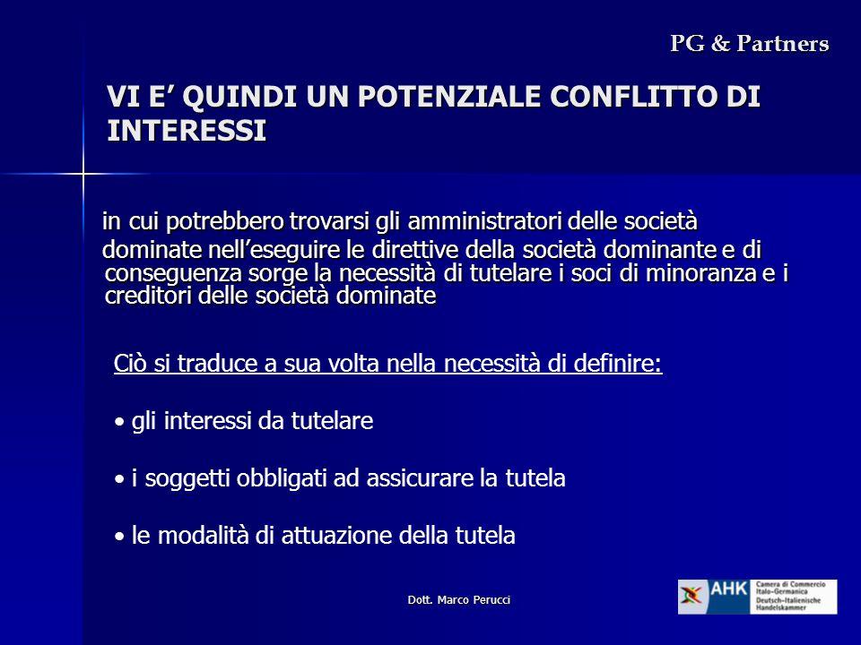 Dott. Marco Perucci VI E QUINDI UN POTENZIALE CONFLITTO DI INTERESSI in cui potrebbero trovarsi gli amministratori delle società in cui potrebbero tro