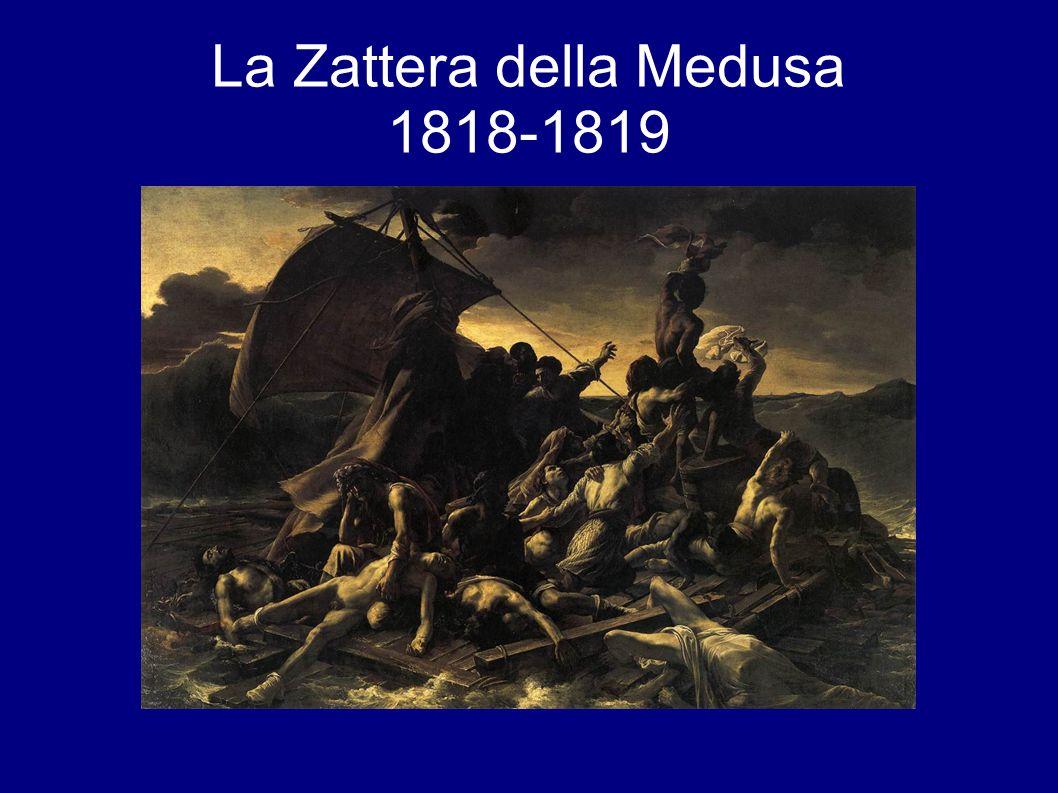 Tema risalente ad un fatto di cronaca avvenuto nel 1816: il naufragio della nave francese Medusa che trasportava soldati e civili nella colonia francese del Senegal.