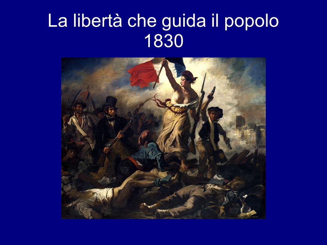 Nel dipinto è rappresentata la lotta per la libertà di varie classi sociali, incitate da una figura femminile che incarna la Libertà.