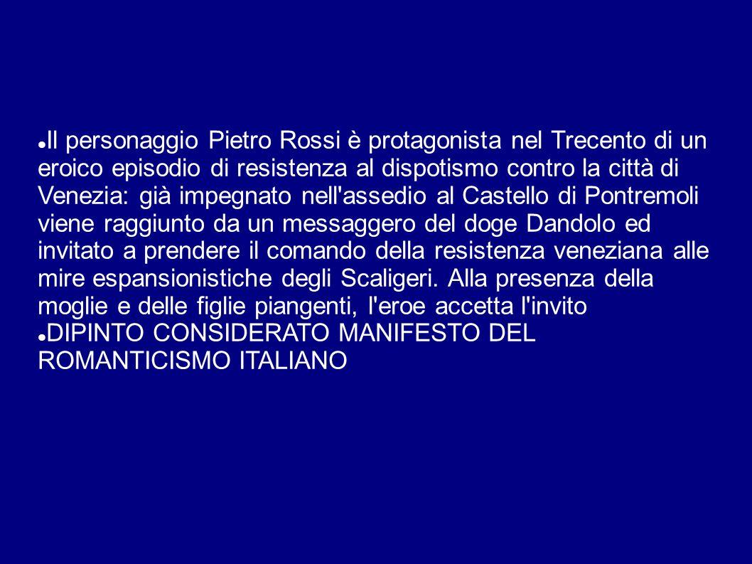 Il personaggio Pietro Rossi è protagonista nel Trecento di un eroico episodio di resistenza al dispotismo contro la città di Venezia: già impegnato nell assedio al Castello di Pontremoli viene raggiunto da un messaggero del doge Dandolo ed invitato a prendere il comando della resistenza veneziana alle mire espansionistiche degli Scaligeri.
