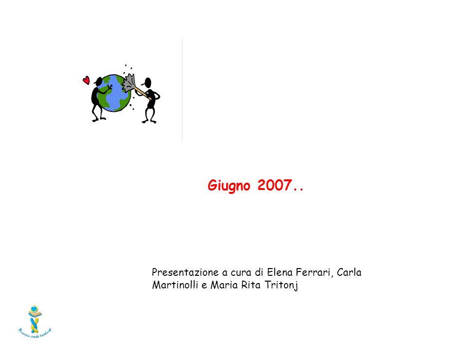 Presentazione a cura di Elena Ferrari, Carla Martinolli e Maria Rita Tritonj Giugno 2007..