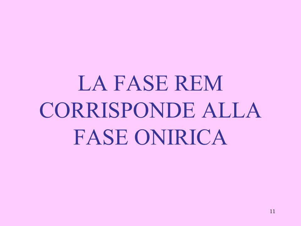 11 LA FASE REM CORRISPONDE ALLA FASE ONIRICA