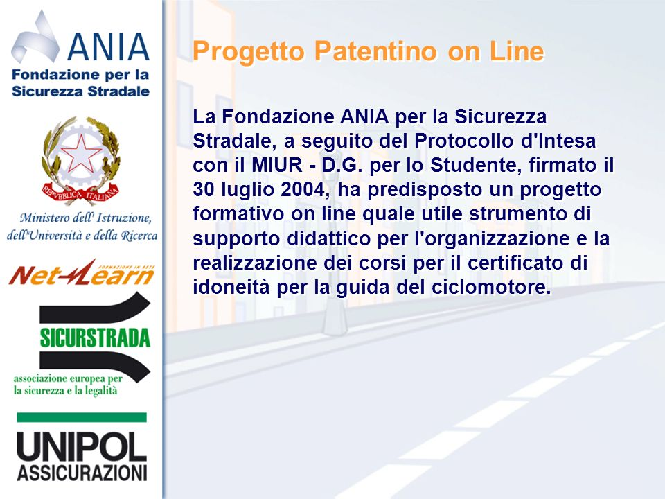 Progetto Patentino on Line