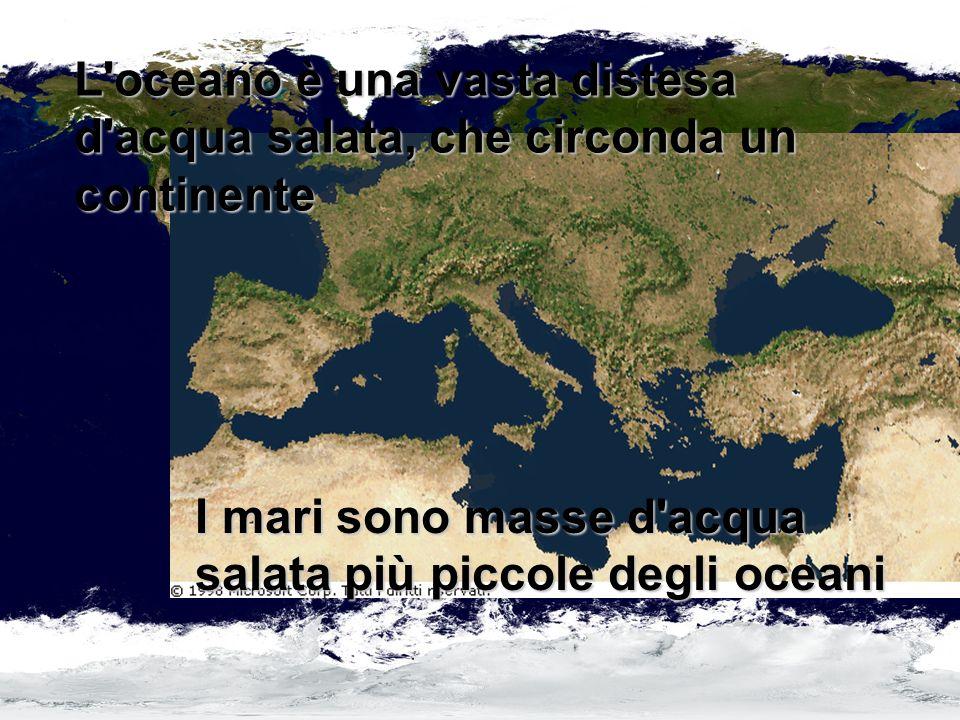 I mari come il Mar Mediterraneo, sono di solito, collegati ad un oceano.
