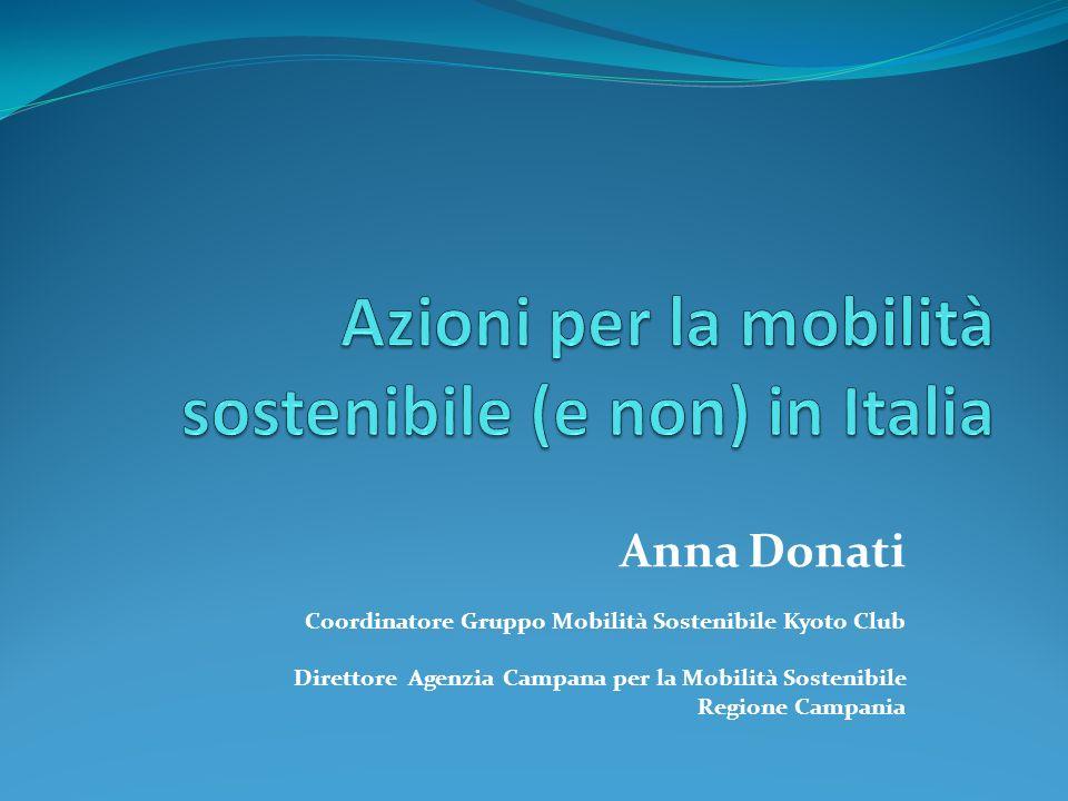 Anna Donati Coordinatore Gruppo Mobilità Sostenibile Kyoto Club Direttore Agenzia Campana per la Mobilità Sostenibile Regione Campania