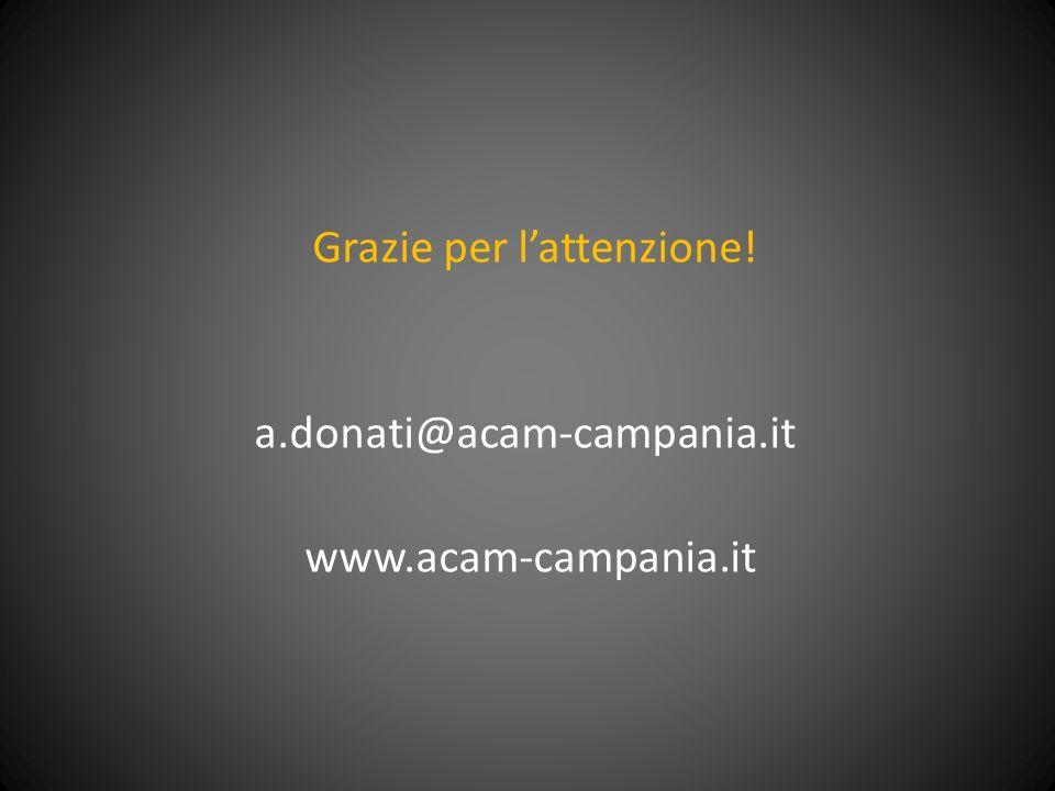 Grazie per lattenzione! a.donati@acam-campania.it www.acam-campania.it