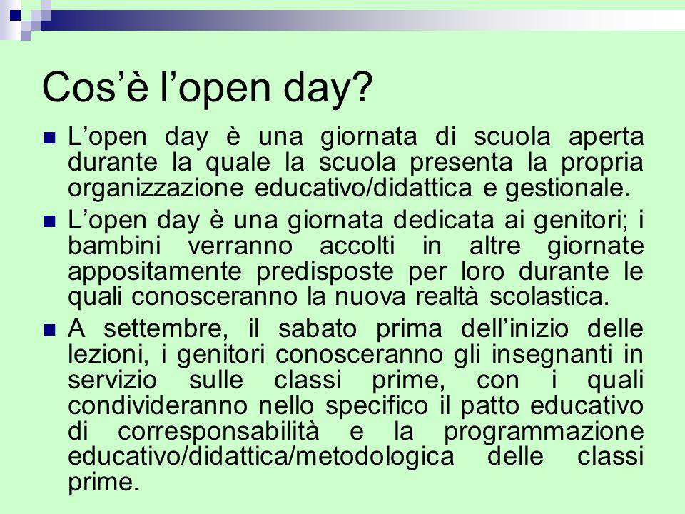 Cosè lopen day? Lopen day è una giornata di scuola aperta durante la quale la scuola presenta la propria organizzazione educativo/didattica e gestiona