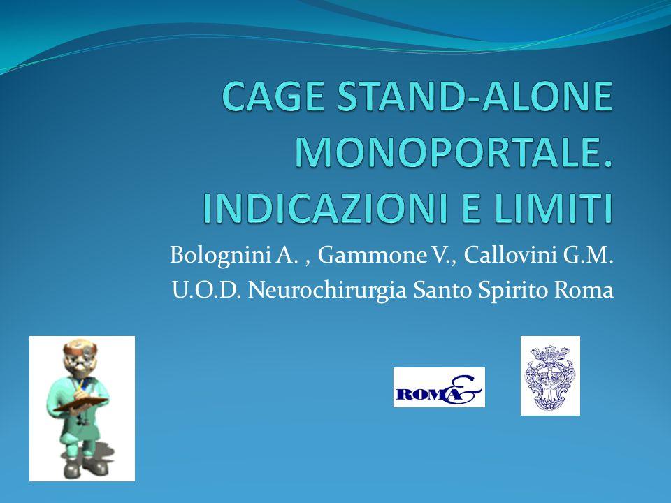 Bolognini A., Gammone V., Callovini G.M. U.O.D. Neurochirurgia Santo Spirito Roma