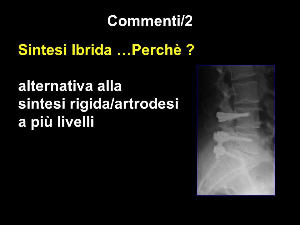 Sintesi Ibrida …Perchè ? alternativa alla sintesi rigida/artrodesi a più livelli Commenti/2
