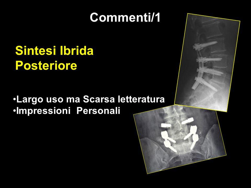 Sintesi Ibrida Posteriore Largo uso ma Scarsa letteratura Impressioni Personali Commenti/1